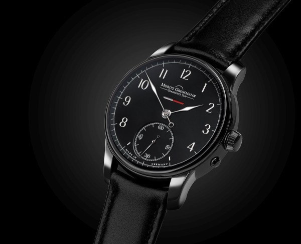 Moritz Grossmann Power Reserve 12th Anniversary Edition watch blackened steel case black dial