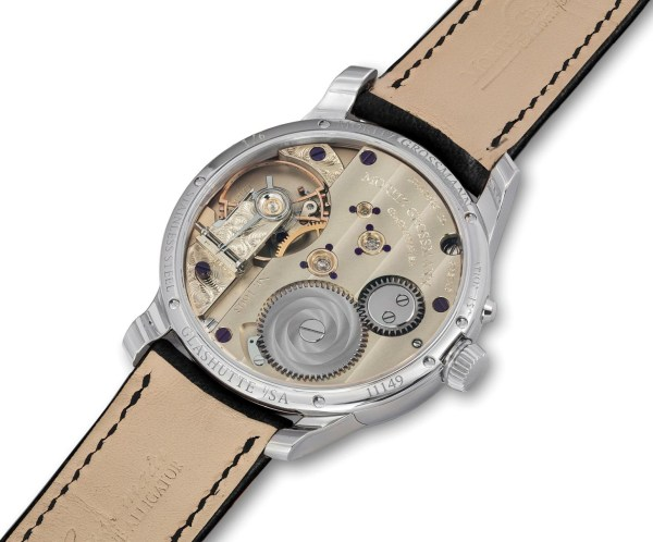 Moritz Grossmann XII Birthday Edition steel case back