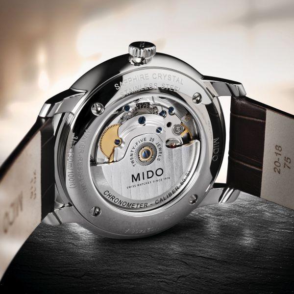 Mido Baroncelli Caliber 80 Chronometer Silicon (M027.408.16.061.00) caseback The Caliber 80