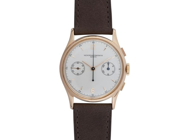 Vacheron Constantin 18K rose gold chronograph wristwatch - model 4072 – 1946
