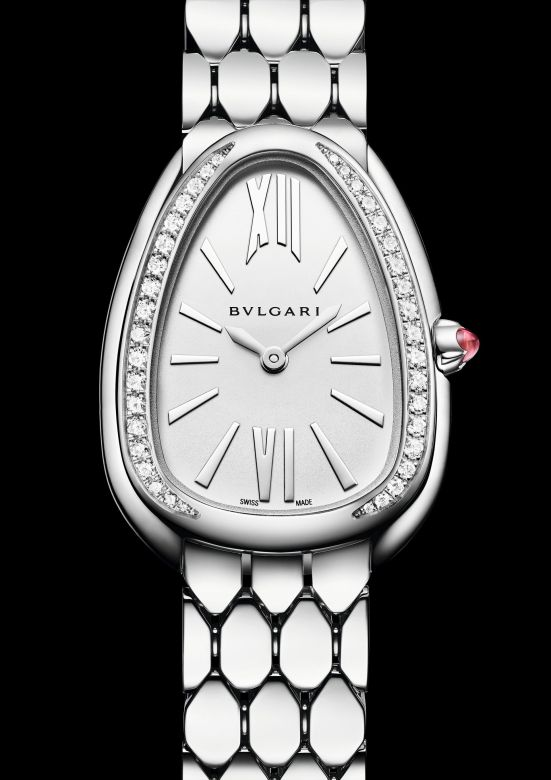 Bvlgari Serpenti Seduttori Steel and Diamonds, Reference 103361