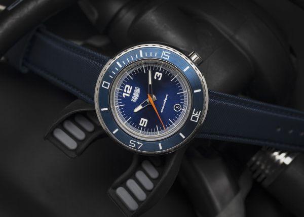 Grandval Atlantique Dive Watch with Classic Blue Dial