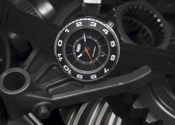 Grandval Atlantique Dual Time Watch with Club Black Dial