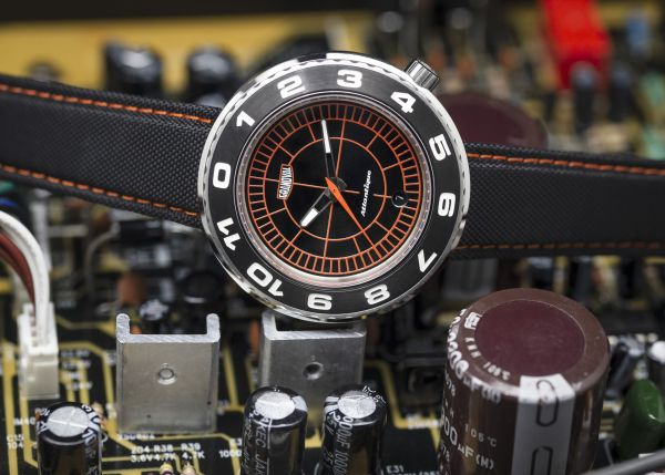 Grandval Atlantique Dual Time Watch with Sector Black Dial