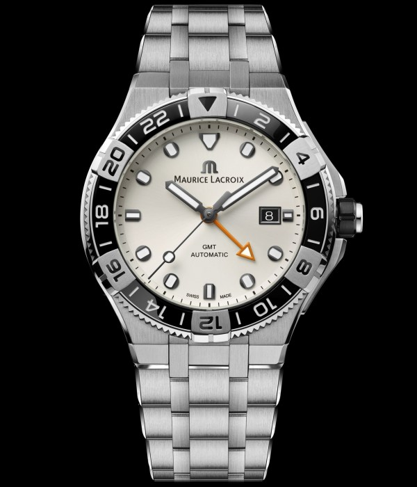Maurice Lacroix AIKON Venturer GMT watch with white dial