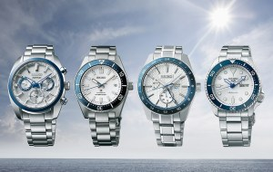 Seiko 140th anniversary Collection: Prospex (SPB213), Presage Sharp Edged Series (SPB223), Astron GPS Solar (SSH093), and Seiko 5 Sports (SRPG47) Limited Editions