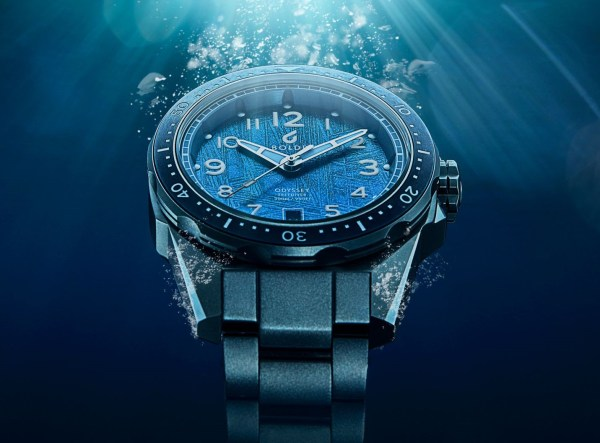 BOLDR Odyssey Freediver watch with meteorite dial