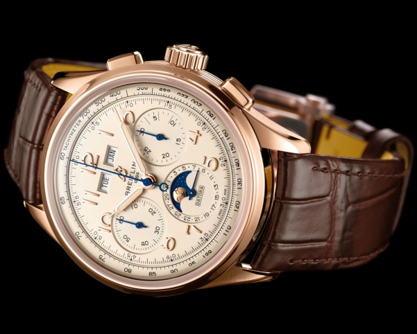 Breitling Premier Heritage Collection - Premier B25 Datora 42 with Red Gold Case and Silver Dial (Reference: RB2510371G1P1)