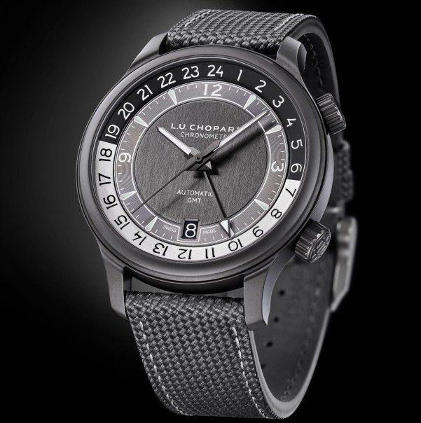 Chopard L.U.C GMT One Black Limited Edition watch withceramised grade 5 titanium