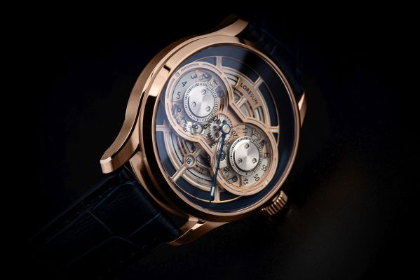 Loresum LS01 mechanical watch rose gold plated case