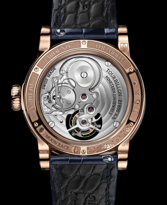 Louis Moinet Moon Race watch Calibre LM 35 - 60-second tourbillon movement