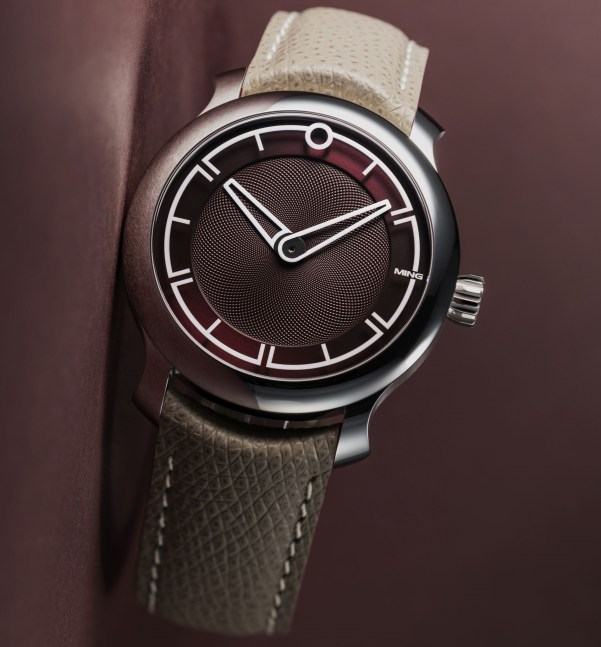 MING 17.09 automatic watch with burgundy dial