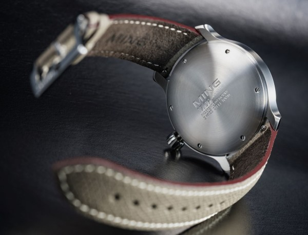 MING 17.09 automatic watch case back view