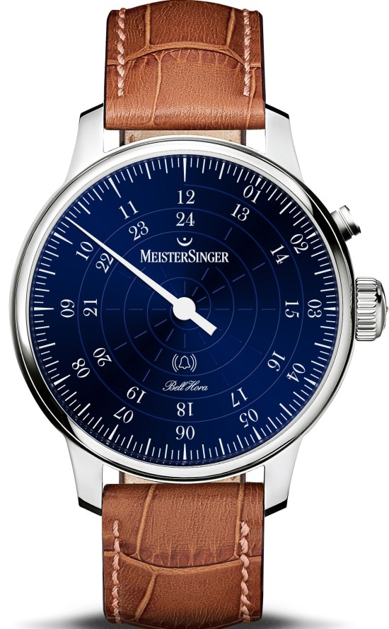 MeisterSinger Bell Hora automatic watch single hand with chime