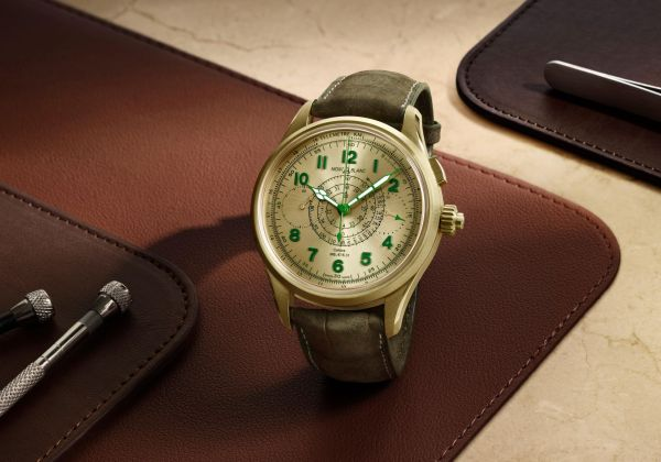 Montblanc 1858 Split Second Chronograph Limited Edition 18 (with 18 K Lime Gold case)