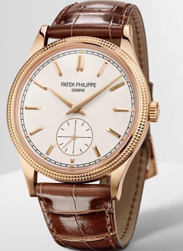Patek Philippe Calatrava Clous de Paris rose gold watch