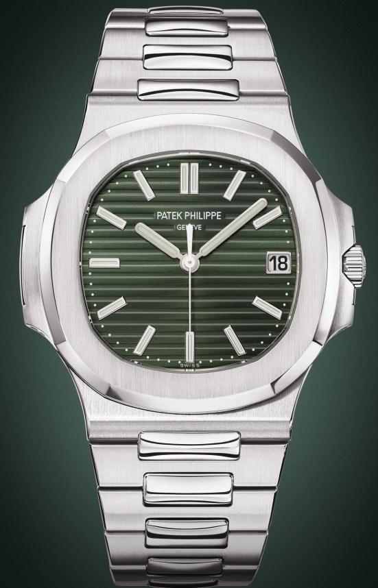 Patek Philippe Nautilus Ref. 5711-1A-014 (with sunburst olive green dial)