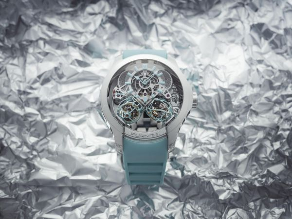 Purnell ESCAPE II Double Spherion Icy Blue (with Platinum case and Icy Blue finishes)