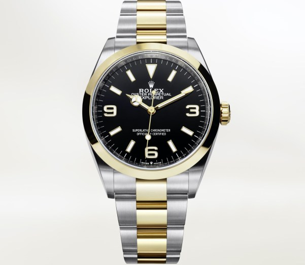 Rolex Oyster Perpetual Explorer 36mm Yellow Rolesor (Reference 124273-0001)