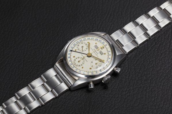 Rolex Steel Triple Calendar Chronograph Wristwatch Dato Compax, Ref. 6036