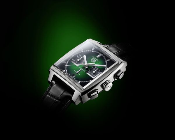 TAG Heuer Monaco Green Dial Limited Edition Chronograph 39 mm Calibre Heuer 02 Automatic (with Green Dial)
