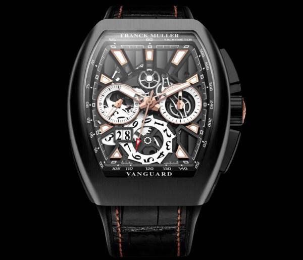Franck Muller Vanguard Skeleton Grande Date Chronograph, Reference V 45 CC GD SQT NR BR (5N)