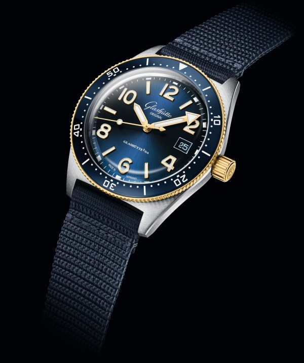 Glashütte Original SeaQ Bicolor stainless steel and yellow gold diving watch