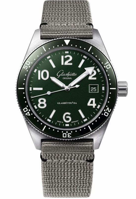 Glashütte Original SeaQ Reed Green diving watch green dial