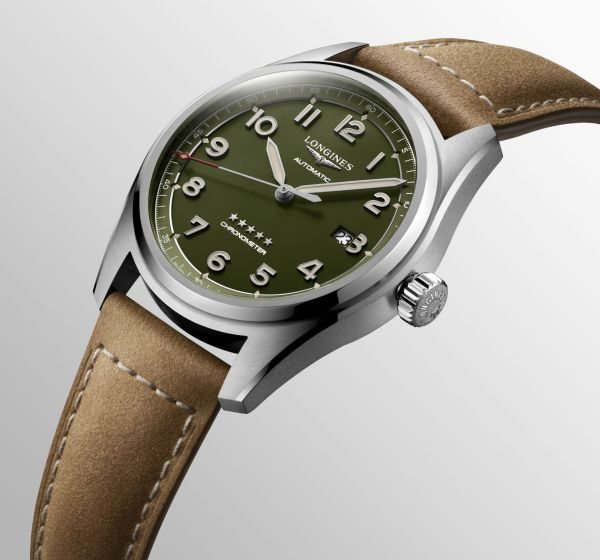 Longines Spirit Green dial watch