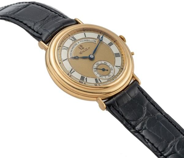 Omega Chronometre Tourbillon Yellow Gold