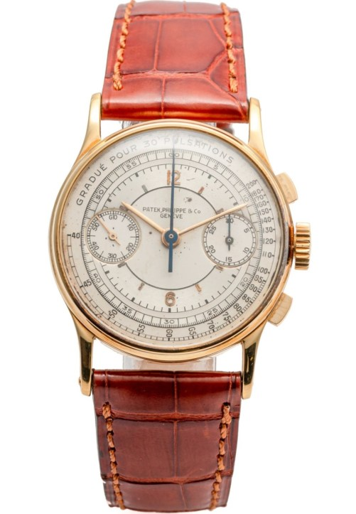 Patek Philippe Ref. 130, Yellow Gold Model with Sector Dial and Pulsation Scale