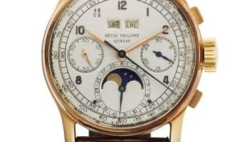 Lot 210: Patek Philippe Reference 1518, 18K Pink Gold Perpetual Calendar Chronograph retailed by Venezuelan retailer Serpico Y Laino: CHF 1, 350,000
