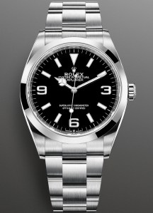 Rolex Oyster Perpetual Explorer 36mm, New Reference 124270-0001(with Oystersteel case and black dial)