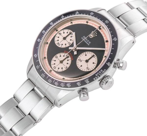 Rolex Ref. 6264, Cosmograph Daytona, Paul Newman, Steel. Estimate: CHF 100,000 - 200,000/ HKD 800,000 - 1,600,000/ USD 100,000 - 200,000.