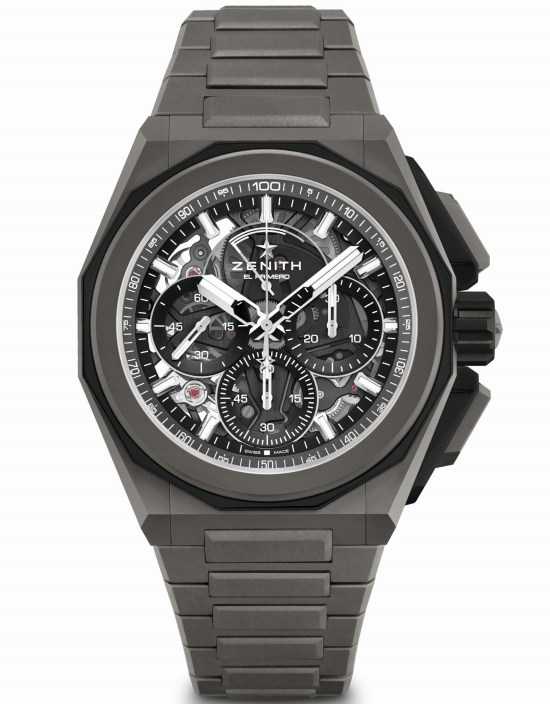 Zenith DEFY Extreme chronograph with Microblasted titanium case and bracelet