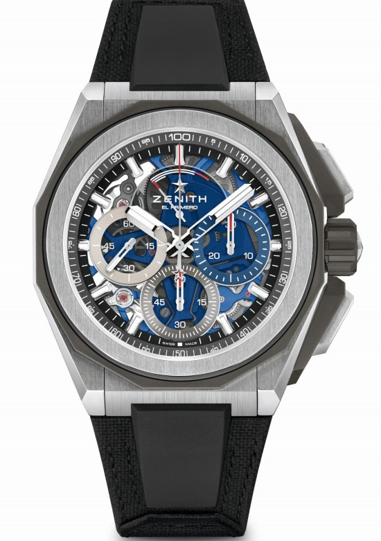 Zenith DEFY EXTREME Chronograph with Brushed, polished and microblasted titanium case and velcro strap