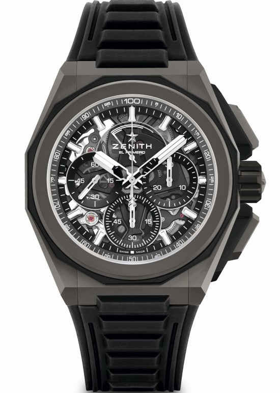 Zenith DEFY EXTREME Chronograph with Microblasted titanium case and rubber strap