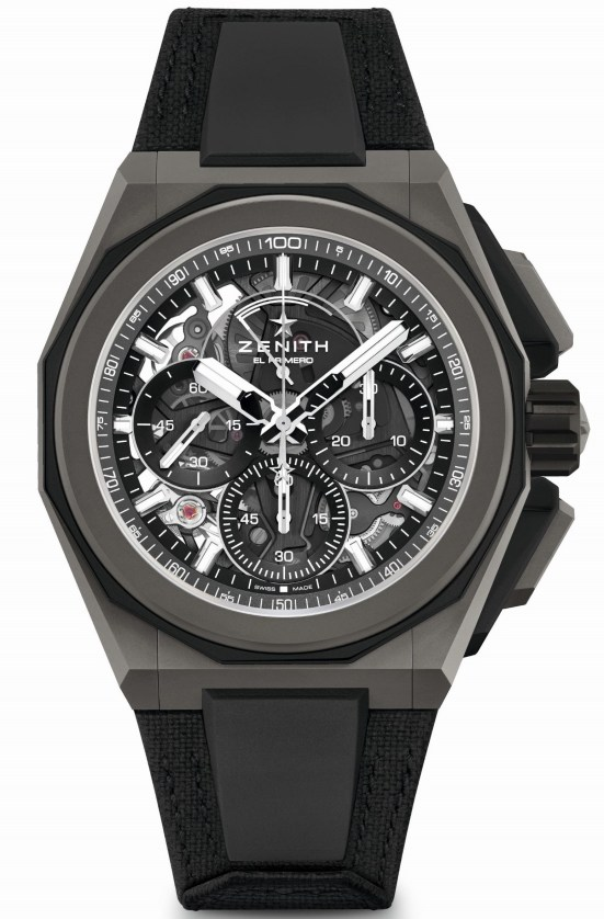Zenith DEFY EXTREME Chronograph with Microblasted titanium case and velcro strap