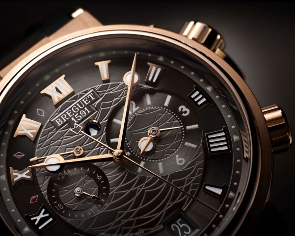 BREGUET MARINE ALARME MUSICALE 5547, 18-carat rose gold with slate gray engine-turned dial