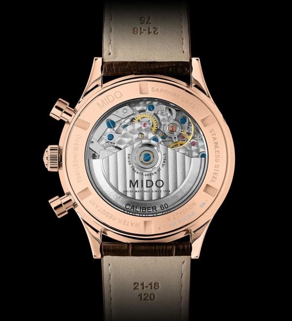 Mido Multifort Patrimony Chronograph (reference M040.427.36.042.00) movement calibre 60