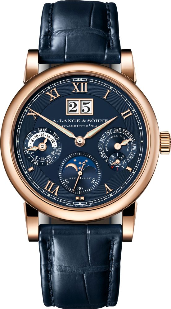 A. Lange & Söhne Langematik Perpetual, New Blue Dial Edition in pink gold