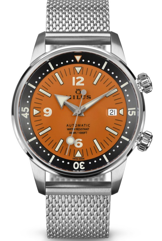 Archimèdes by Milus Orange Coral Limited Edition automatic diving watch