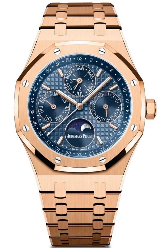 Audemars Piguet Royal Oak Perpetual Calendar, New Blue Dial Version with rose gold case