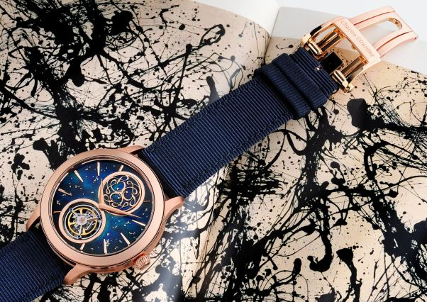 Charles Girardier 1809 Tribute to Jackson Pollock « Fusion Enamel » Unique Piece for Only Watch 2021