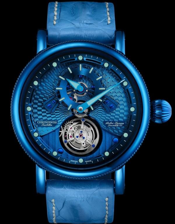 Chronoswiss Open Gear Tourbillon Limited Edition watch electric blue case