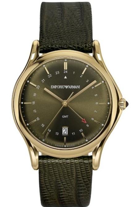 Emporio Armani Swiss Made Classic Quartz GMT, ARS1104