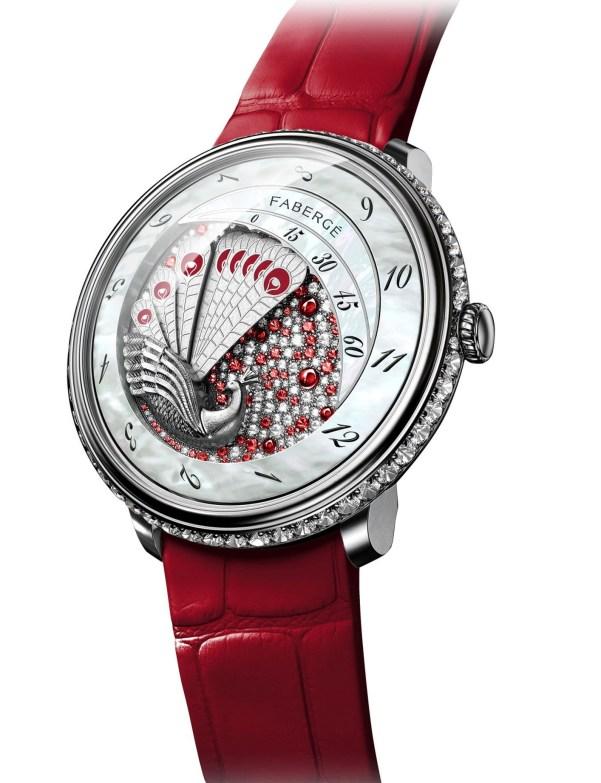 Fabergé Lady Compliquée Peacock Ruby watch