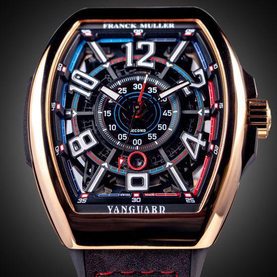 Franck Muller Vanguard™ Racing Skeleton Bill Auberlen Limited Edition watch rose gold version