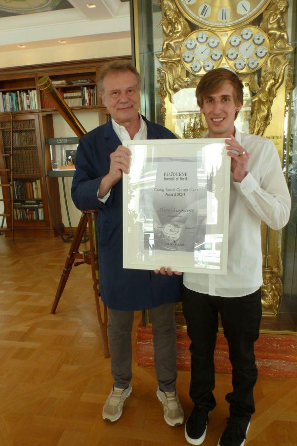 François-Paul Journe awarding Mario Scarpatetti