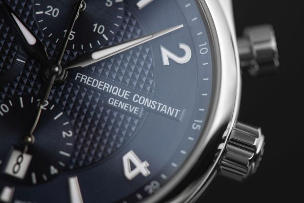 Frederique Constant Runabout Chronograph Automatic, New Models with Navy Blue Dial